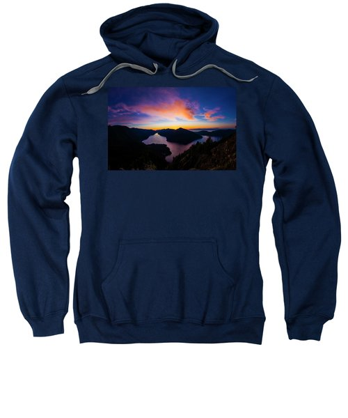 Lake Crescent Sunset Sweatshirt
