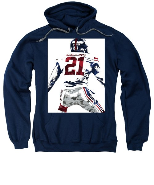 Landon Collins New York Giants Pixel Art 1 Sweatshirt