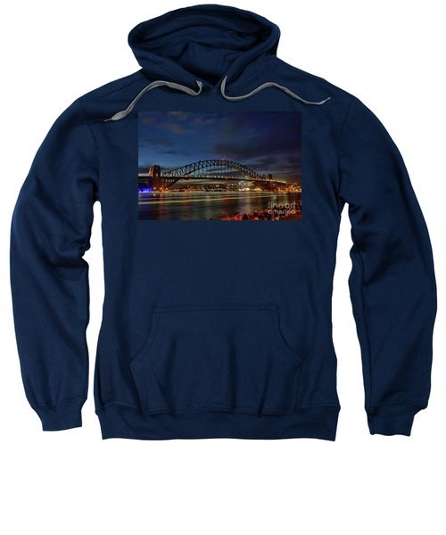 Light Trails On The Harbor By Kaye Menner Sweatshirt by Kaye Menner