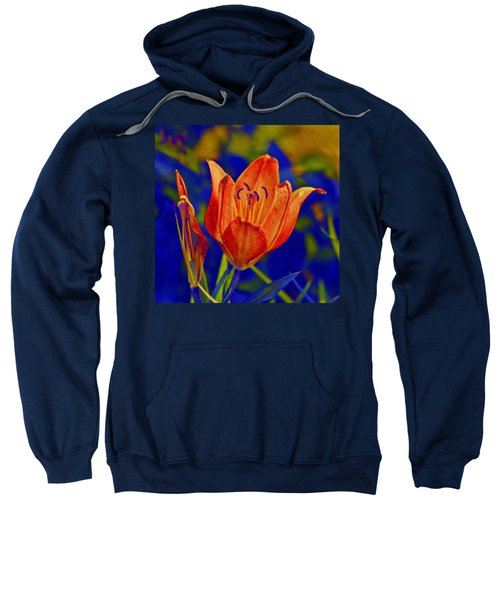Sweatshirt featuring the photograph Lily With Sabattier by Bill Barber