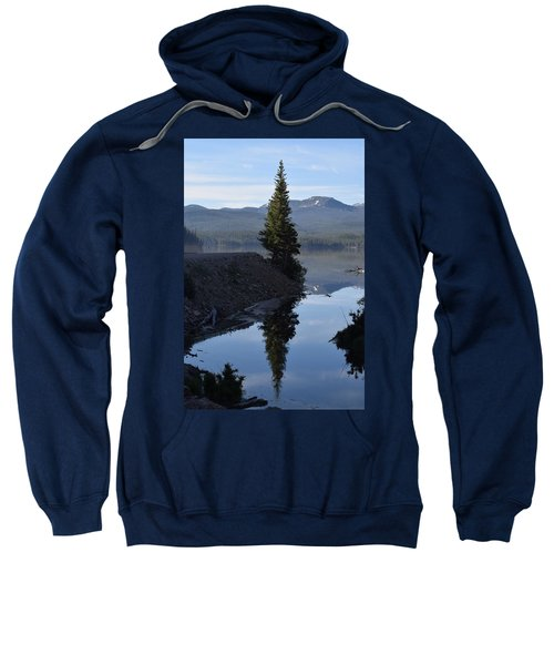 Lone Pine Reflection Chambers Lake Hwy 14 Co Sweatshirt