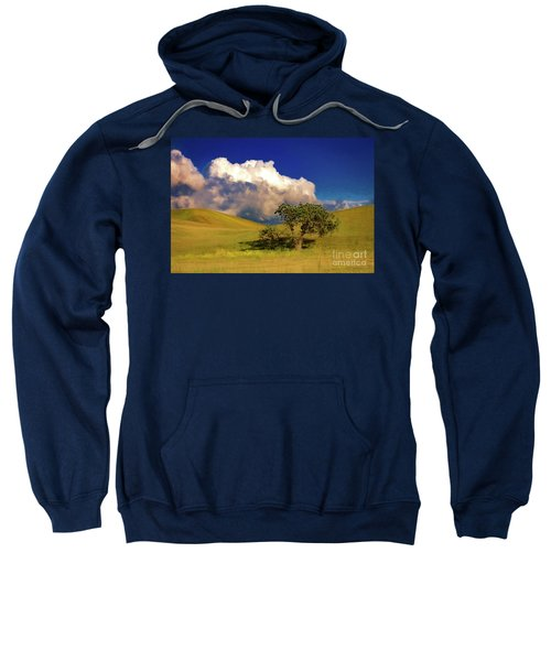 Lone Tree With Storm Clouds Sweatshirt