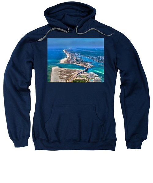 Looking West Across Perdio Pass Sweatshirt