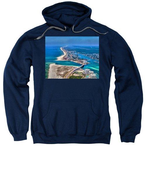 Looking West Across Perdio Pass Sweatshirt