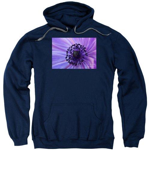 Macro Of Lavender Purple Anemone Sweatshirt