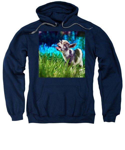 Baby Goat Kid Singing Sweatshirt