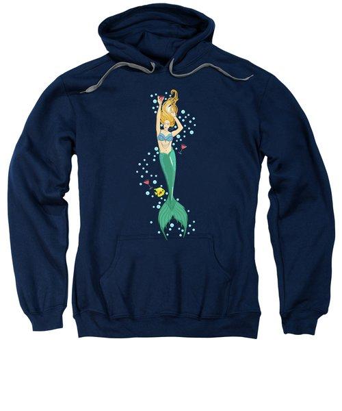 Martini Mermaid Sweatshirt by Tracy Dixon