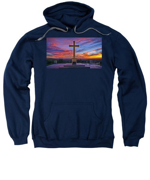 Christian Cross And Amazing Sunset Sweatshirt