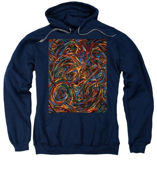 Meditation Wall Painting Sweatshirt