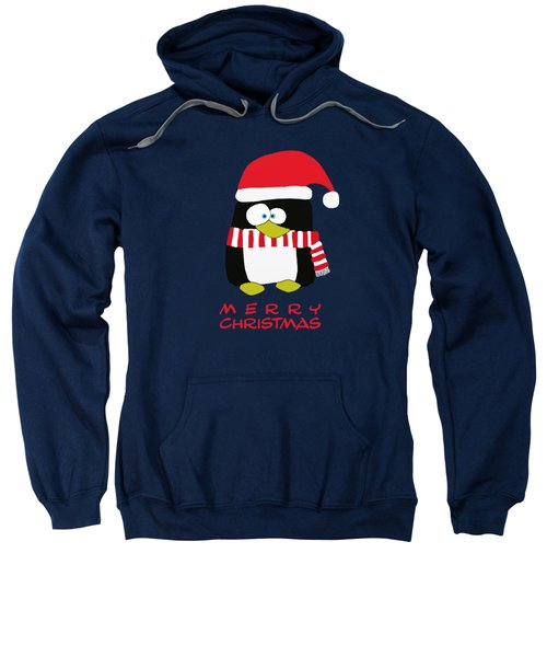 Merry Christmas Penguin Sweatshirt by Priscilla Wolfe