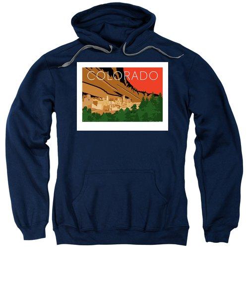 Sweatshirt featuring the digital art Mesa Verde Orange by Sam Brennan