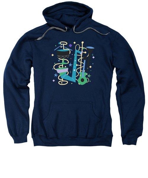 Midcentury Modern Fifties Jazz Composition Sweatshirt