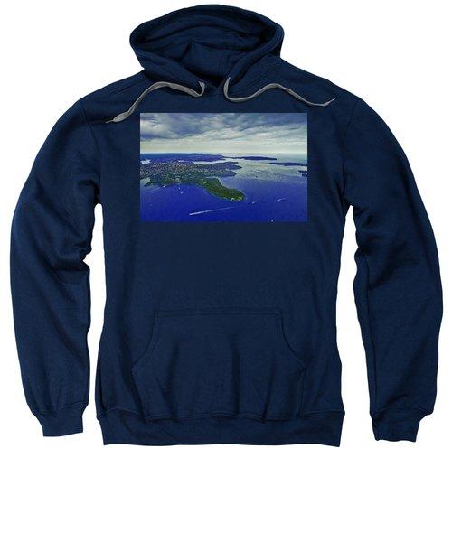 Middle Head And Sydney Harbour Sweatshirt by Miroslava Jurcik
