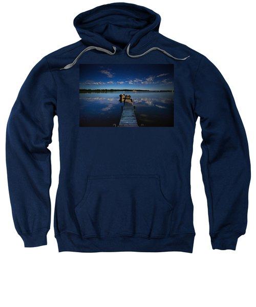 Midnight At Shady Shore On Moose Lake Minnesota Sweatshirt