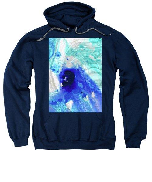 Modern Abstract Art - Blue Marble Sweatshirt
