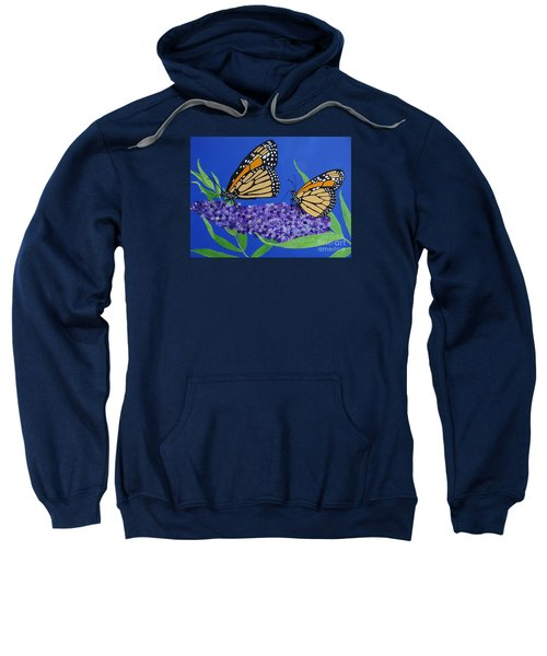 Monarch Butterflies On Buddleia Flower Sweatshirt
