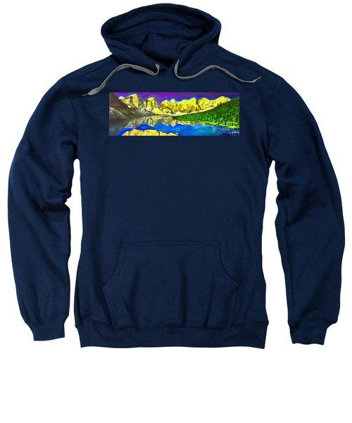 Moraine Lake Abstract Sweatshirt