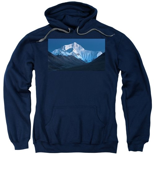 Mount Everest At Blue Hour, Rongbuk, 2007 Sweatshirt