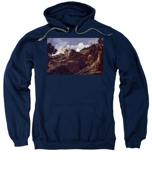 Mountainous Landscape With Approaching Storm Sweatshirt
