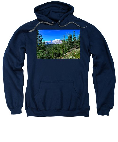 Mt. Rainier Wildflowers Sweatshirt