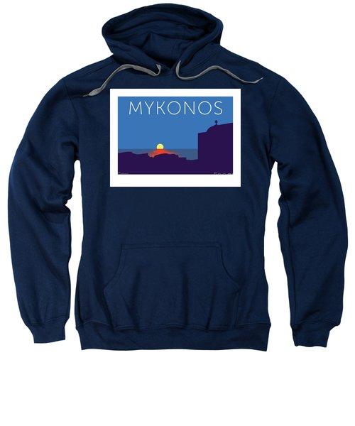 Mykonos Sunset Silhouette - Blue Sweatshirt