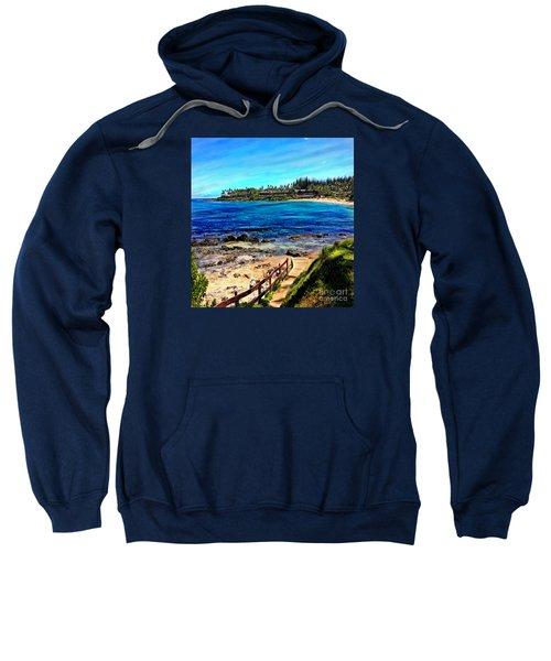 Napili Beach Gazebo Walkway Shower Curtain Size Sweatshirt