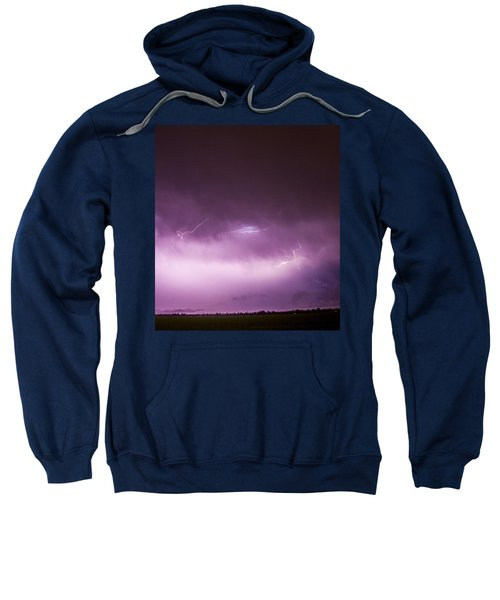 Nebraska Night Thunderstorms 013 Sweatshirt