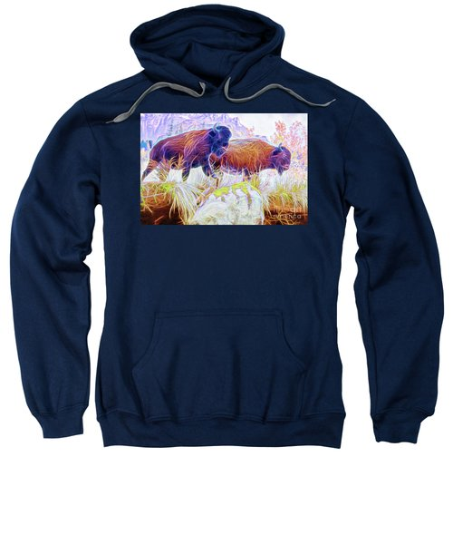 Neon Bison Pair Sweatshirt