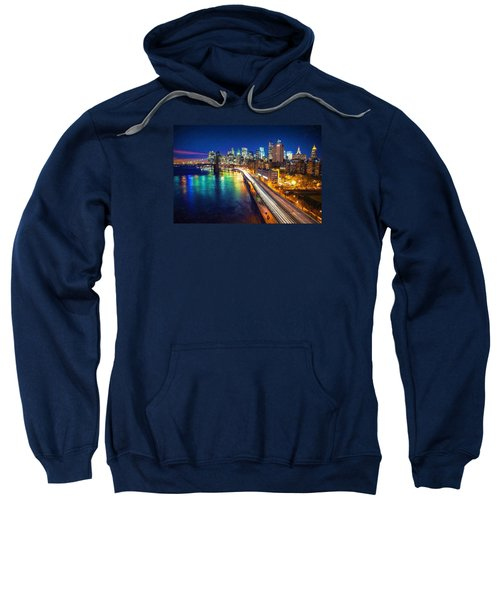 New York City Lights Blue Sweatshirt