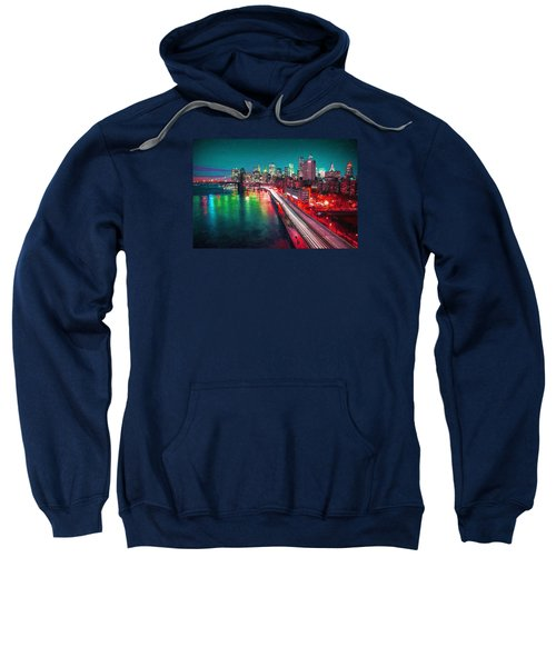 New York City Lights Red Sweatshirt