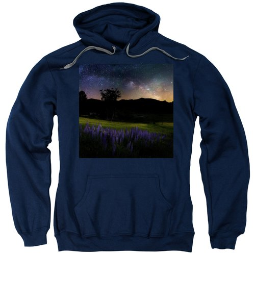 Sweatshirt featuring the photograph Night Flowers Square by Bill Wakeley