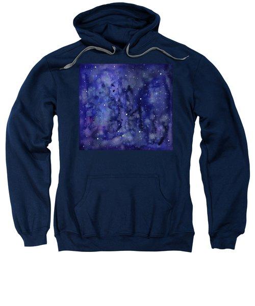 Night Sky Watercolor Galaxy Stars Sweatshirt