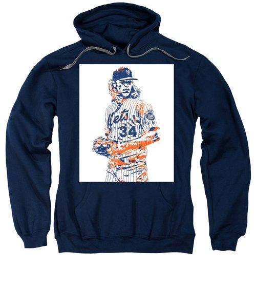 Noah Syndergaard New York Mets Pixel Art 1 Sweatshirt