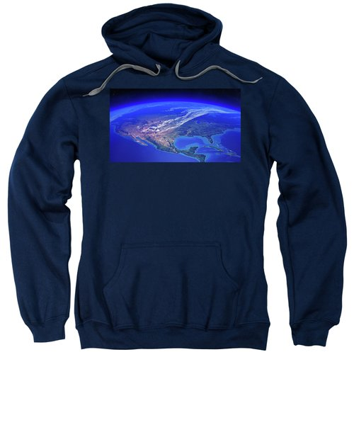 North America Seen From Space Sweatshirt