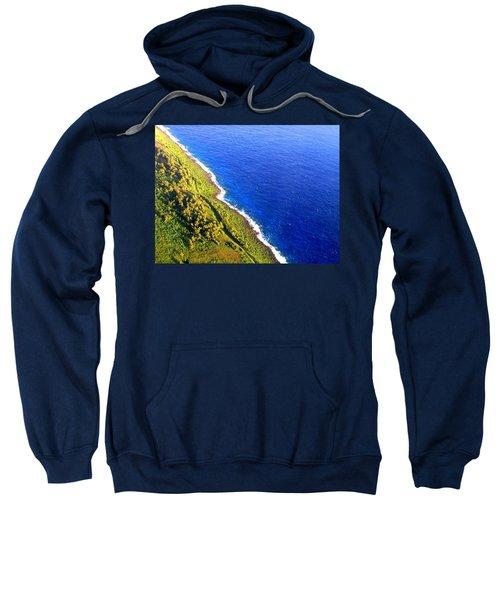 North Coast Of Tinian At Sunrise Sweatshirt