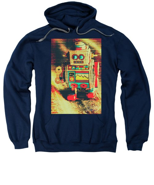 Nostalgic Tin Sign Robot Sweatshirt
