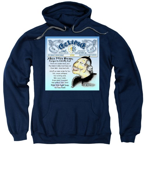 Real Fake News Recipe Column Sweatshirt