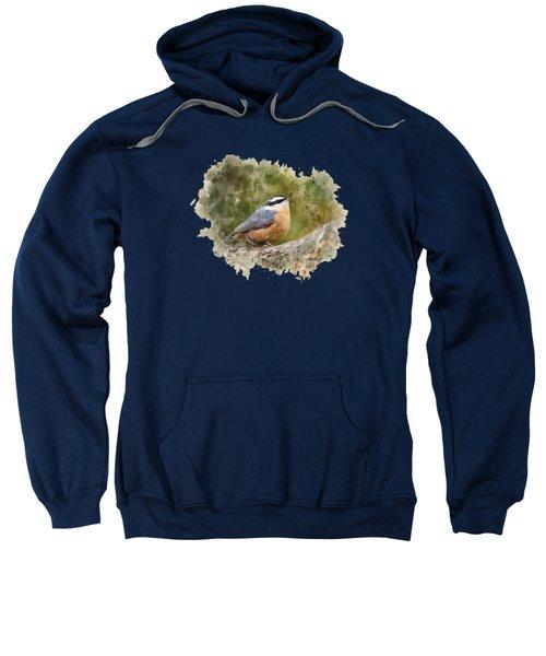 Nuthatch Watercolor Art Sweatshirt