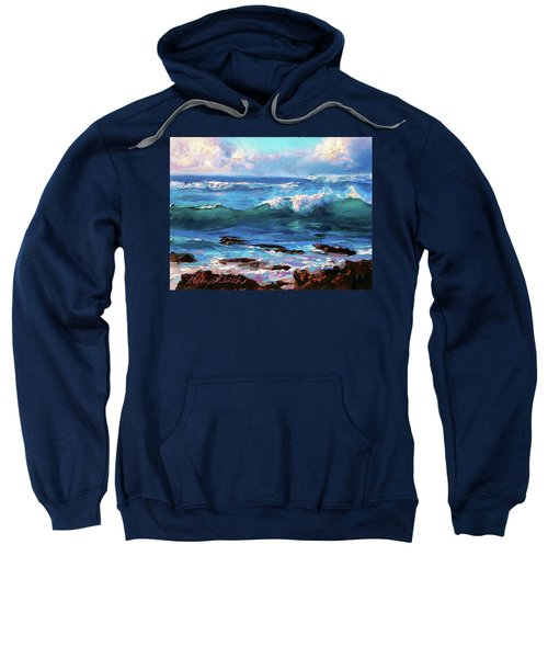 Coastal Ocean Sunset At Turtle Bay, Oahu Hawaii Beach Seascape Sweatshirt