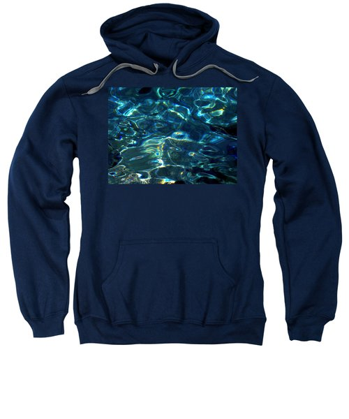 Ocean Water Reflections Island Santorini Greece Sweatshirt