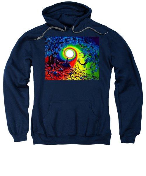 Om Tree Of Life Meditation Sweatshirt