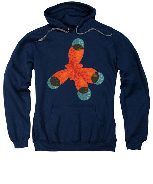 Orange Methane Molecule Sweatshirt