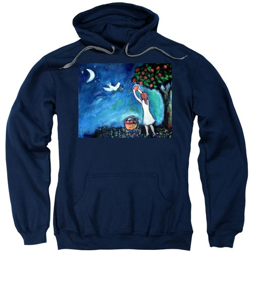 Sweatshirt featuring the painting Oranges Song by Winsome Gunning