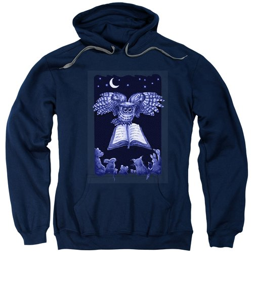 Owl And Friends Indigo Blue Sweatshirt