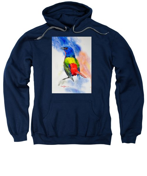 Da189 Painted Bunting Daniel Adams Sweatshirt