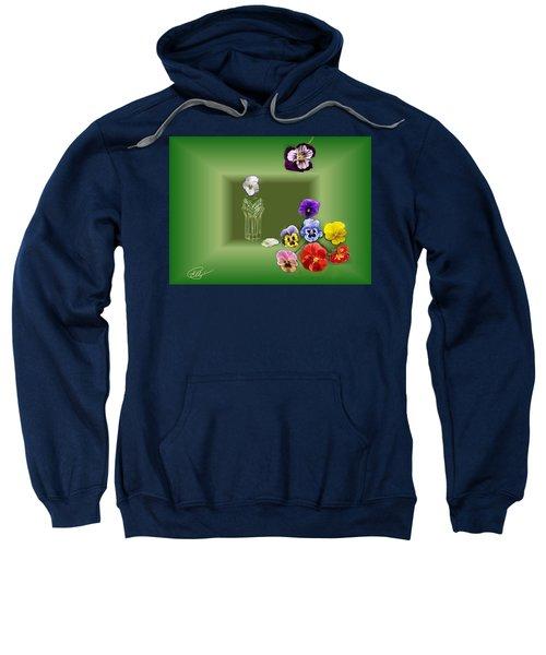 Pansies  Sweatshirt
