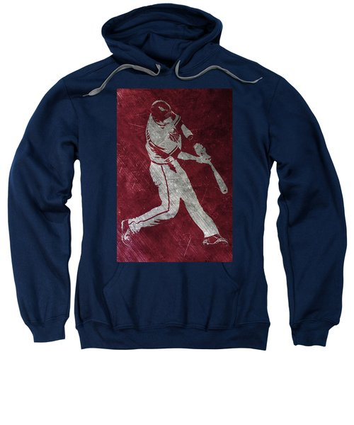 Paul Goldschmidt Arizona Diamondbacks Art Sweatshirt by Joe Hamilton