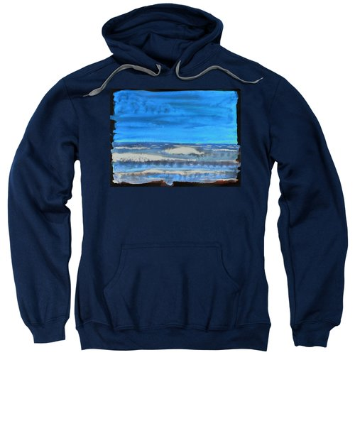 Sweatshirt featuring the painting Peau De Mer by Marc Philippe Joly