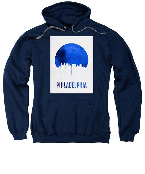 Philadelphia Skyline Blue Sweatshirt by Naxart Studio