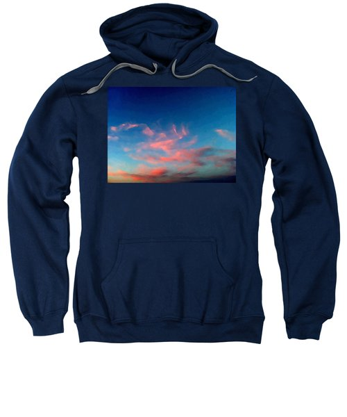Pink Clouds Abstract Sweatshirt